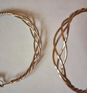 Серьги-кольца бижутерия