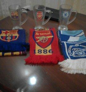 Бокалы и шарфы