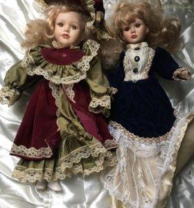 Куколки фарфоровые. 42-37см