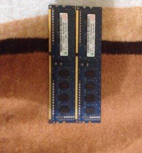Оперативная память 2GB (2шт) сумарно 4 gb
