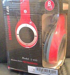 Наушники беспроводные MP3/FM