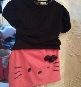 Набор hello kitty,комбинезон acoola и набор вещей
