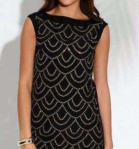Платье Инсити. Новое. Черное с золотыми заклепками