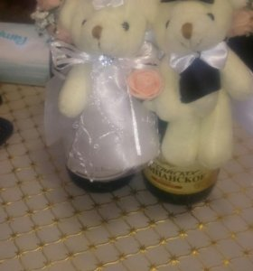 Подвеска для свадебных бутылок