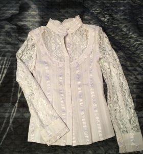Нарядная блузка. 7-9 лет