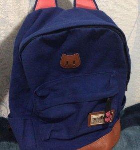 Портфель с ушками рюкзак кошка школьный НОВЫЙ