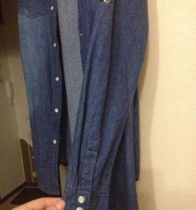 рубашка-платье джинсовое р-р 48-50
