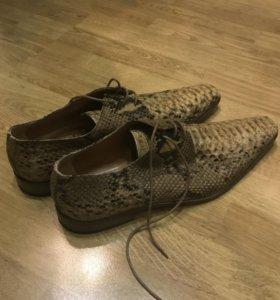 Новые мужские туфли из кожи питона, размер 45