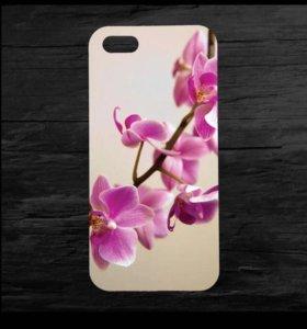Чехол для iPhone 4 и 4s орхидея