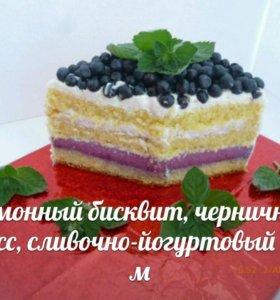 Торт на суфле,на твороге