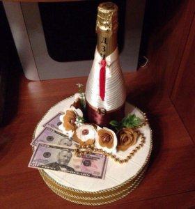 Подарочная упаковка под шампанское