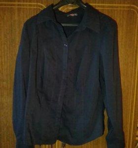 Тёмно-синяя блузка