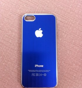 Чехол на iPhone5 (синий)