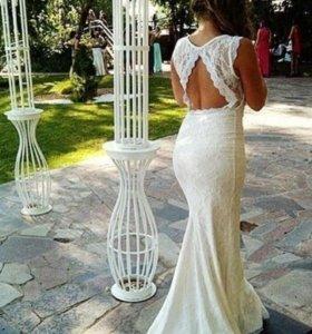 НОВОЕ Кружевное гипюровое платье kikiriki.