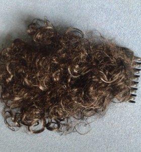 Волосы на заколки новая.