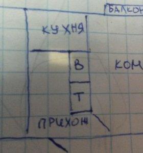 2 х комнатная квартира п.Североонежск