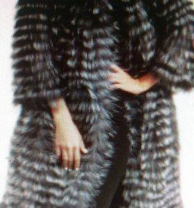 Меховое пальто из чернобурки.