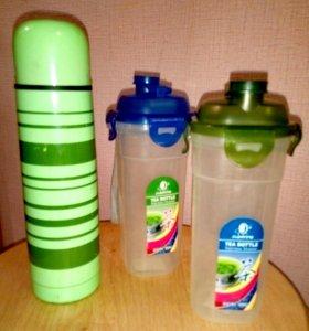 Термос, стаканы питьевые
