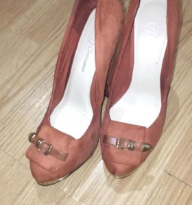 Туфли замшевые, натуральные