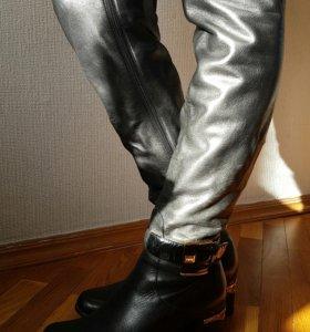 Сапоги кожаные еврозима б.у.