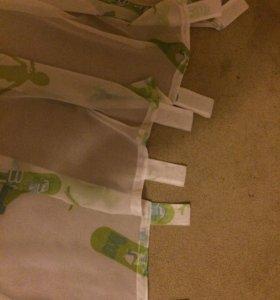 2 шторы (тюль)