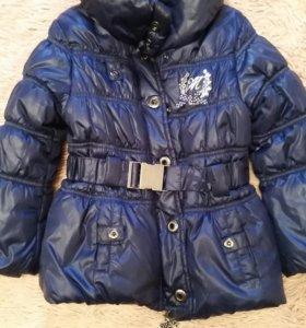 Куртка для девочки размер 110(4-5лет)