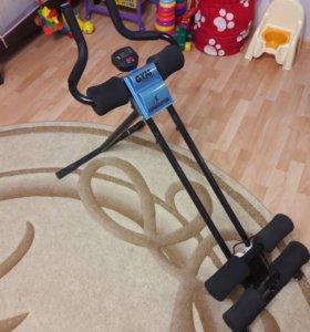 Комплексый складной тренажер для мышц ног и песса