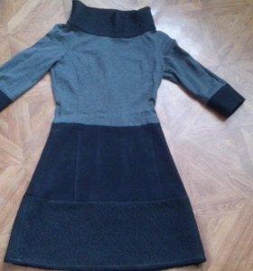 Платье черно- серое