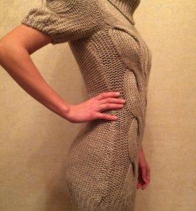 Новое вязаное платье 42-44