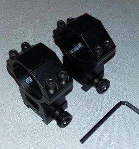 Кольца для оптики 30 мм высокие Weaver/Picatinny