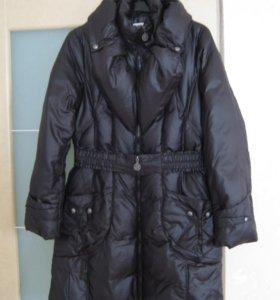 Пальто пуховое черное Lawine (пуховик)