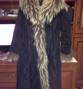 Пальто зимнее б/у