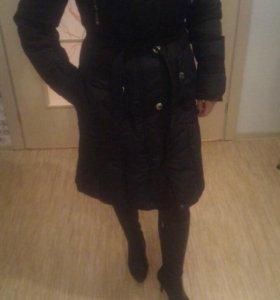 Зимнее плащ-пальто