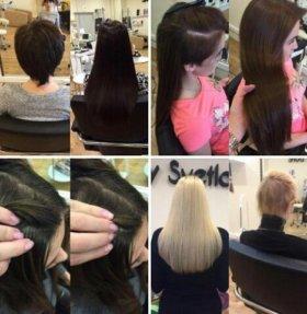 Микронаращивание волос