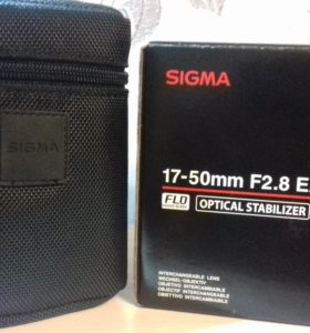 Объектив sigma 17-50 mm 2.8 на canon