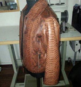 Пошив детских кожаных курток из кожи питона.от 1го