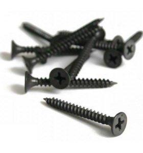 Саморезы чёрные универсальные частый шаг 16-152 мм