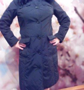 Теплое пальто-куртка 44-46 размера