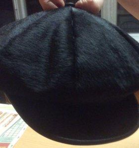 Зимняя кепка натуральный мех