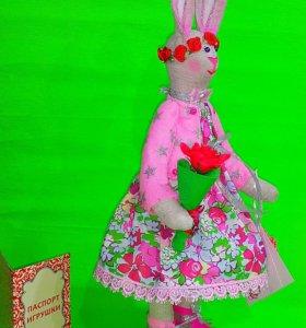 Кукла текстилная. Заяц Тильда.