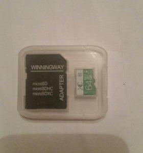 Micro sd флешка на 64 гб