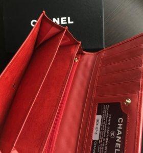 """Кошелёк красный """"ромбиком"""" Chanel"""