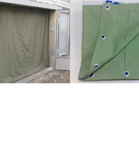 Установка штор в гараж