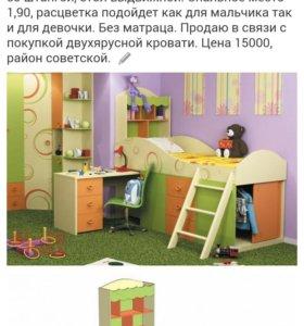 Кровать фрутис детская трансформер