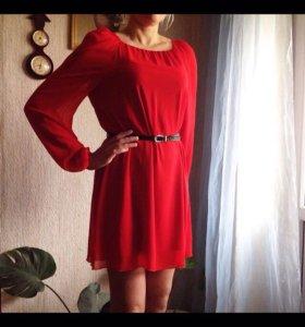 Новое платье натуральный шифон
