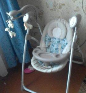 Электрокачель+стул для кормления