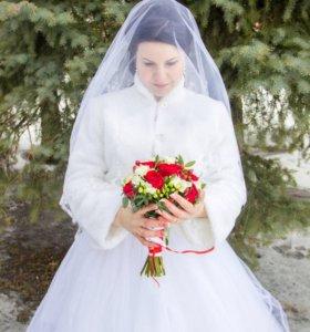 Красивая свадебная шубка