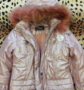 Куртка тёплая, на зиму для девочки 146-72