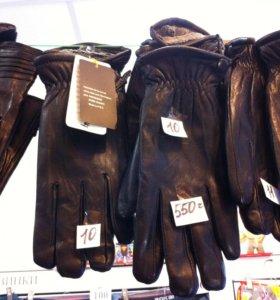 Перчатки нат.кожа