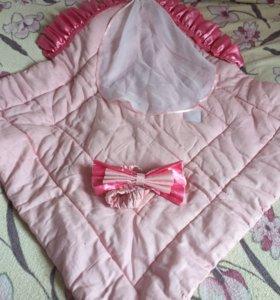 Одеяло-конверт с фатой на выписку